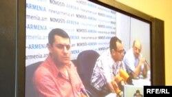 Gürcüstan televiziyasında Ermənistanla telekörpü keçirilir, Tbilisi, 01 iyul 2009