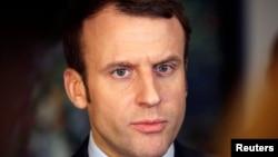 Эммануэль Макрон, кандидат в президенты Франции.