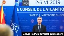 Генералниот секретар на НАТО, Јенс Столтенберг во Скопје