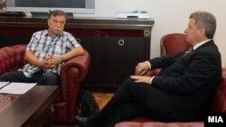 Средба на претседателот на Мaкедонија Ѓорге Иванов со Борче Давитковски.