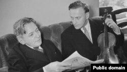 Yehudi Menuhin cu George Enescu
