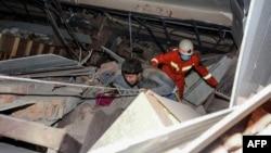 На месте обрушения гостиницы, Цюаньчжоу, 7 марта 2020