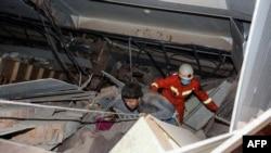 На месте обрушения гостиницы, Гуанчжу, 7 марта 2020