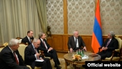 Armenia -- President Serzh Sarkisian meeting with the visiting OSCE Minsk Group co-chairs, Yerevan, 25Oct2016