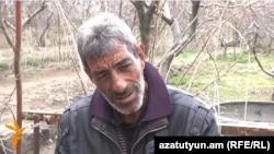 Armenia - Kyalash Sloyan, the father of an Armenian soldier killed and decapitated by Azerbaijani troops in Nagorno-Karabakh, talks to RFE/RL, Artashavan, 10Apr2016.