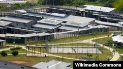 Pamje e qendrës së paraburgimit të migrantëve në Christmas Island