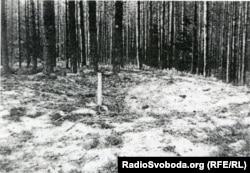 Місце розстрільної ями в урочищі, яке назвуть Сандармох. Карелія, 1997 рік