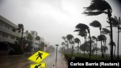 Маямиде ураган учурундагы көрүнүш. 10-сентябрь, 2017-жыл.