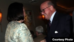 Presidentja Atifete Jahjaga gjatë takimit me ambasadorin Frank Uizner.