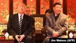 Donald Trump și Xi Jinping în Orașul Interzis, Beijing 8 noiembrie.