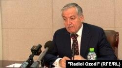 Tajik Foreign Minsiter Sirojiddin Muhriddin