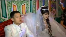 Uzbek couples continue to marry during the cotton harvest season, but at home instead of at restaurants and wedding halls.