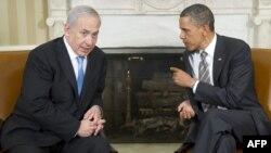 Американскиот претседател Барак Обама и израелскиот премиер Бенџамин Нетанјаху на последната средба во Вашингтон