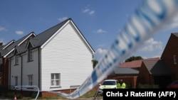 Дом в Эймсбери, в котором Дон Стёрджесс и Чарли Роули были найдены в бессознательном состоянии. Великобритания, 5 июля 2018 года.