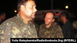 Звільнені українські військові, Дніпропетровськ, 12 вересня 2014 року