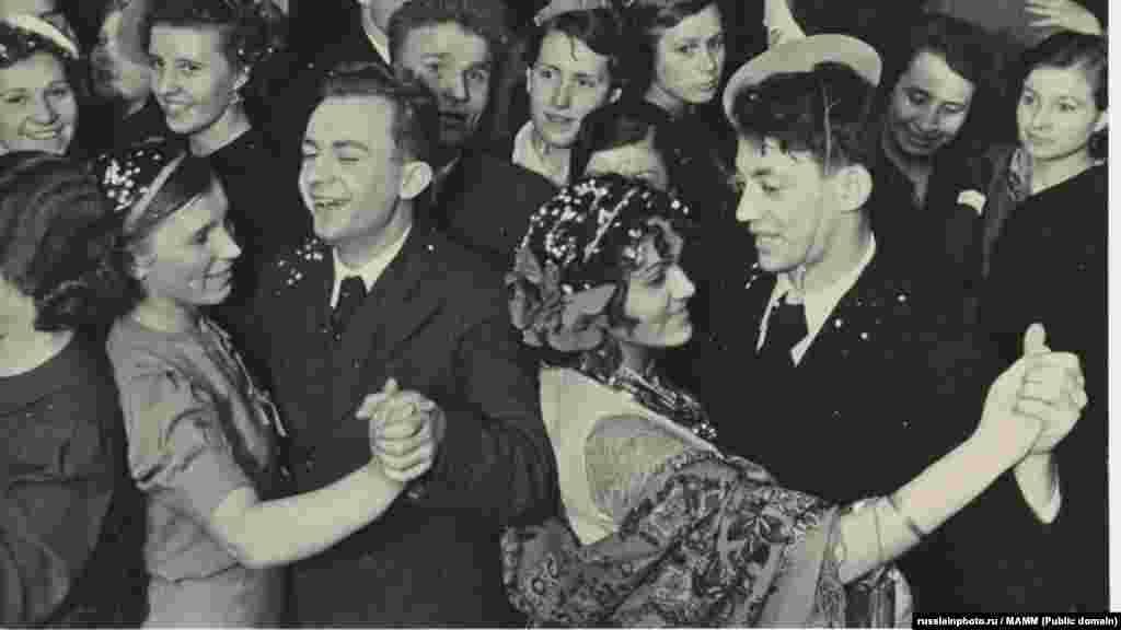 Новогодний бал в Колонном зале Дома Союзов, 1948 год
