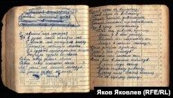 Страницы песенника К.В.Антипова