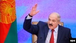 Лукашенко Минскидеги басма сөз жыйында. 29-январь, 2015-жыл.
