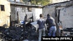 Një vendbanim i romëve në Beograd, që ishte përfshirë nga zjarri, në muajin nëntor të vitit të kaluar