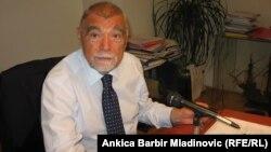 Stjepan Mesić tokom snimanja Dnevnika za RSE