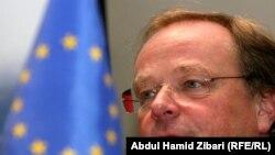 وزير التنمية والتعاون الإقتصادي الالماني ديرك نيبل متحدثاً في أربيل