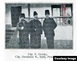 Ofițeri români evadați din lagăre aflate în teritoriul ocupat (Foto: V. Gorsky, Pribeag în țara mea..., 1925)