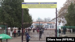 Школа имени Жусупа Баласагуни в селе Абай Южно-Казахстанской области.