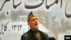 Kabul - Presidenti i Afganistanit Hamid Karzai (Ilustrim)