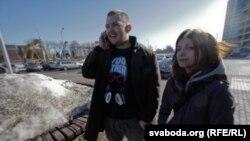 Павал Вінаградаў з жонкай Сьвятланай перад пачаткам суду.