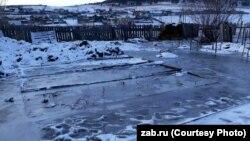 Зимнее наводнение в Забайкалье