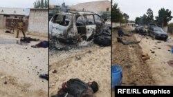 تصاویر از حمله گروه داعش بر یک پوسته امنیتی در منطقه سرحدی تاجیکستان