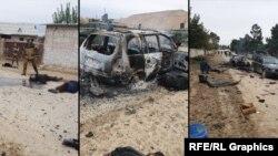 Фотографии с места атаки на пограничную заставу в Таджикистане.