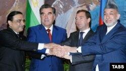Дидори президентҳои чаҳор кишвар дар Душанбе