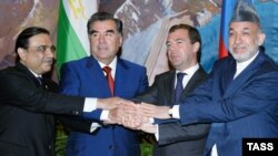 President of Afghanistan Hamid Karzai, President of Pakistan Asia Ali Zardari, President of Russia Dmitry Medvedev, and President of Tajikistan Emomali Rahmon to hold a summit in Dushanbe on September 2.