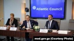 თავდაცვის მინისტრი ირაკლი ღარიბაშვილი ატლანტიკურ საბჭოში. 2019 წლის 21 ნოემბერი