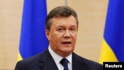 Виктор Янукович баспасөз мәслихатын өткізіп тұр. Дондағы Ростов, 11 наурыз 2014 жыл.