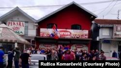Nacionalistički protest ispred pekare u Borči
