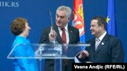 Eштон со Николиќ и Дациќ во Белград