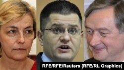 Vesna Pusić, Vuk Jeremić i Danilo Tirk