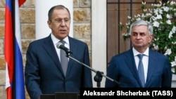 Сергей Лавров и Рауль Хаджимба в Сухуми, 18 апреля 2017 года