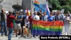 Parada ponosa u Budvi u ljeto 2013.