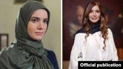 متین ستوده، در مراسم اکران فیلم (سمت راست)، در نمایی از یک سریال (سمت چپ)