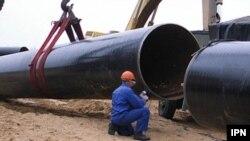 Șantierul gazoductului Ungheni-Chișinău