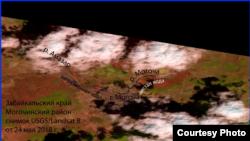 Космоснимок реки Амазар, Забайкальский край