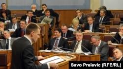 Igor Lukšić u Parlamentu Crne Gore, 28. decembar 2010.
