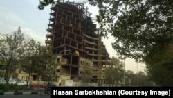 نمایی از ساخت و ساز در تهران