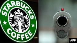 A Georgian man was shot dead at a U.S. Starbucks despite the chain's policy of banning guns from its stores.