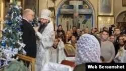 Церемония вручения Джамбулату Умарову православного ордена