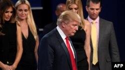 Доналд Трамп пасьля дэбатаў у Лас-Вэгасе (Нэвада) 19 кастрычніка 2016 году.