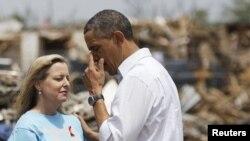 Presidenti amerikan Barack Obama në Oklahoma